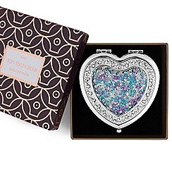 Jon Richard - Crystal shaker heart compact mirror