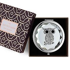 Jon Richard - Silver crystal owl compact mirror