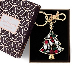 Jon Richard - Gold crystal Christmas tree keyring
