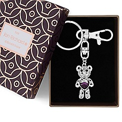 Jon Richard - Crystal heart teddy keyring