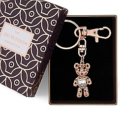 Jon Richard - Rose gold heart teddy keyring