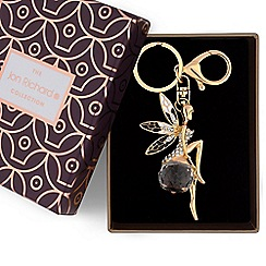 Jon Richard - Gold crystal fairy keyring