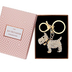 Jon Richard - Crystal dog keyring in a gift box