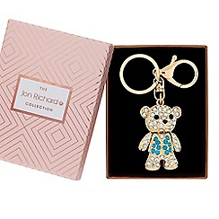 Jon Richard - Crystal bear keyring in a gift box