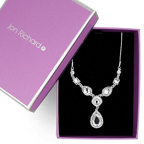 Jon Richard - Crystal teardrop y necklace