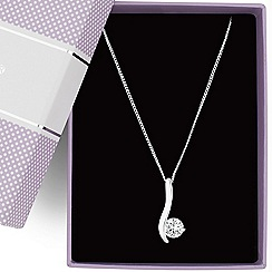 Jon Richard - Cubic zirconia wave stick pendant necklace