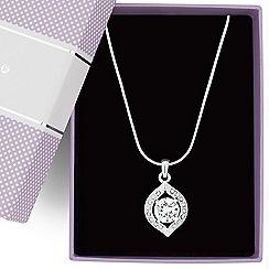 Jon Richard - Cubic zirconia teardrop surround necklace