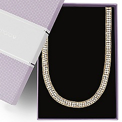 Jon Richard - Diamante crystal gold chain surround necklace