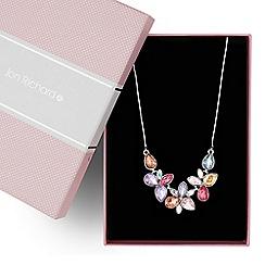Jon Richard - Multicoloured floral stone link necklace
