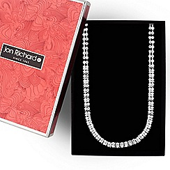 Jon Richard - Silver diamante crystal link necklace