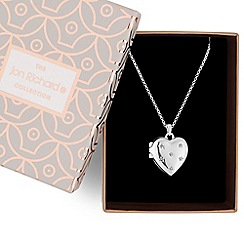 Jon Richard - Silver crystal heart necklace