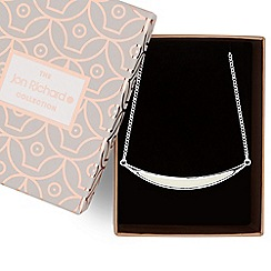 Jon Richard - Cream enamel curved bar necklace