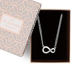 Jon Richard - Silver crystal infinity necklace