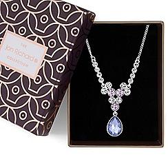 Jon Richard - Purple crystal cluster necklace