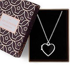 Jon Richard - Black heart locket necklace