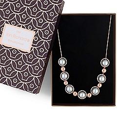 Jon Richard - Grey pearl orb necklace