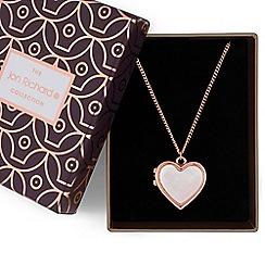 Jon Richard - Rose gold heart locket necklace
