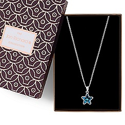Jon Richard - Bermuda blue crystal star pendant necklace MADE WITH SWAROVSKI CRYSTALS