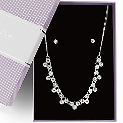 Jon Richard - Round crystal link necklace and earring set