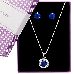 Jon Richard - Blue cubic zirconia twist surround jewellery set