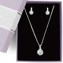 Jon Richard - Cubic zirconia round drop necklace and earring set