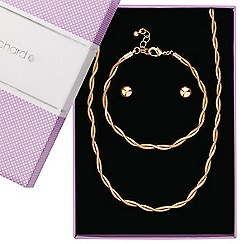 Jon Richard - Two tone rose gold snake chain twist jewellery set