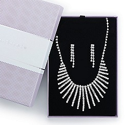 Jon Richard - Great value diamante crystal shower drop jewellery set