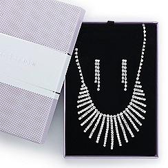 Jon Richard - Great value diamante crystal shower drop jewellery set
