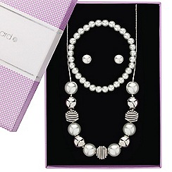 Jon Richard - Great value pearl and polished ball jewellery set