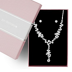 Jon Richard - Crystal cluster y drop necklace and earring set