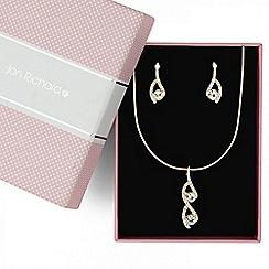 Jon Richard - Crystal embellished gold teardrop jewellery set