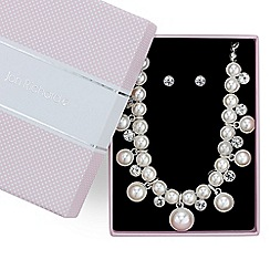 Jon Richard - Pearl and crystal allway necklace with matching earring set
