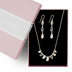 Jon Richard - Triple tone multi shaped droplet jewellery set