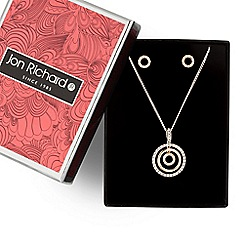 Jon Richard - Gold triple circle necklace and earring set