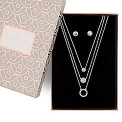 Jon Richard - Crystal multi row necklace and earring set