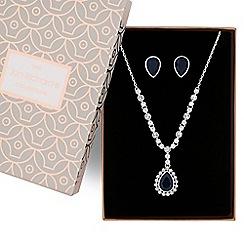 Jon Richard - Crystal peardrop necklace and earring set