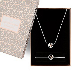 Jon Richard - Multi tone heart necklace and bracelet set
