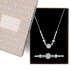 Jon Richard - Silver glitter inlay necklace and bracelet set
