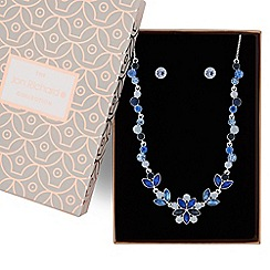 Jon Richard - Blue tonal crystal necklace and earring set