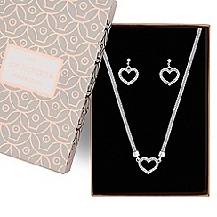Jon Richard - Pave heart necklace and earring set