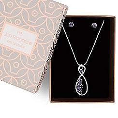 Jon Richard - Tonal crystal infinity pendant and earring set