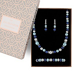 Jon Richard - Tonal blue pearl jewellery set
