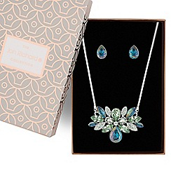 Jon Richard - Tonal crystal cluster necklace and earring set
