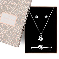 Jon Richard - Pave heart jewellery set