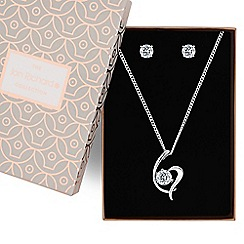 Jon Richard - Silver swirl pendant jewellery set