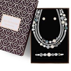 Jon Richard - Pearl and bead multi row jewellery set