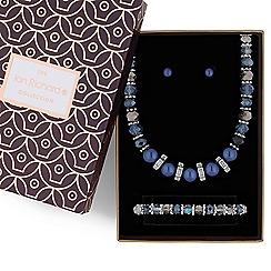 Jon Richard - Blue pearl jewellery set