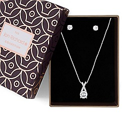 Jon Richard - Silver cubic zirconia twist necklace and earrings set