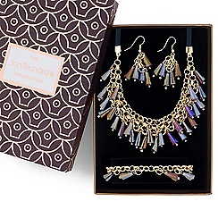 Jon Richard - Metallic bead shaker jewellery set