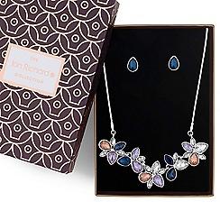 Jon Richard - Multi colour crystal cluster jewellery set